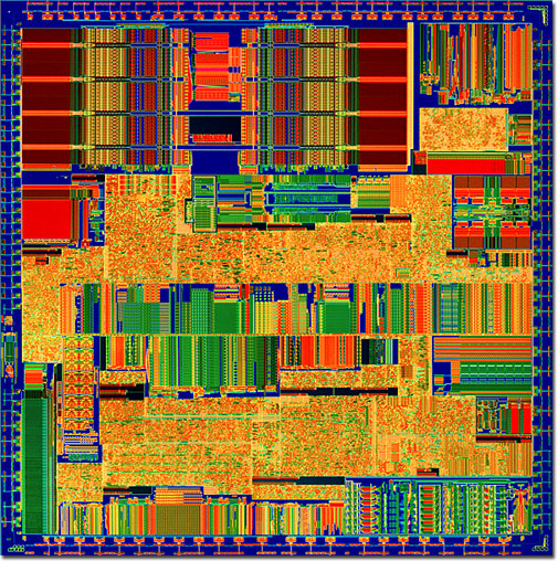 6x86 Microprocessor Die Polysilicon Layer