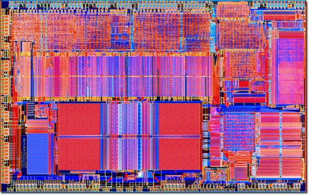 Molecular Expressions Chip Shots Intel Integrated