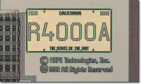 R4000 California License Plate