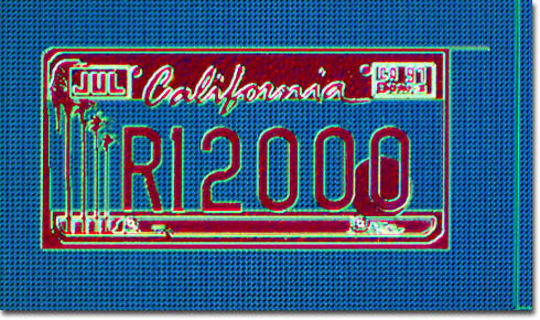 R12000 California License Plate