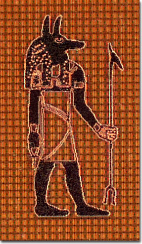 Ancient Egyptian God Anubis (Darkfield)