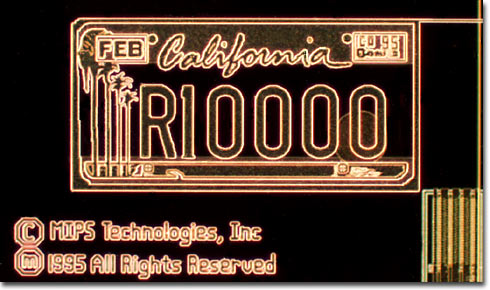 R10000 California License Plate (Darkfield)