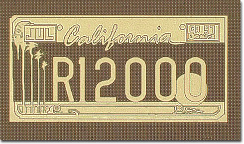 R12000 California License Plate (Brightfield)
