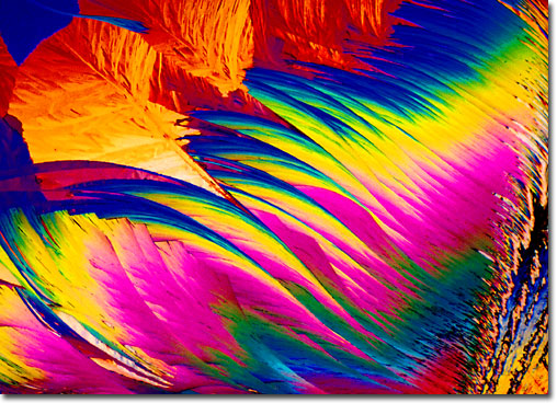 Photograph of Anthranilic Acid under the microscope