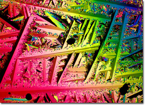 Photograph of Menadione under the microscope